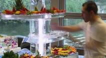Buffet Etagere aus Eis