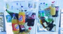Flaschenkübel aus Eis