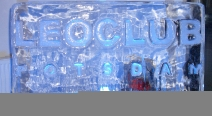 Leoclub-Logo auf Eis_1