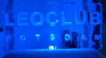 Leoclub-Logo auf Eis_2